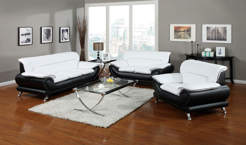 Orel Living Room Set in White