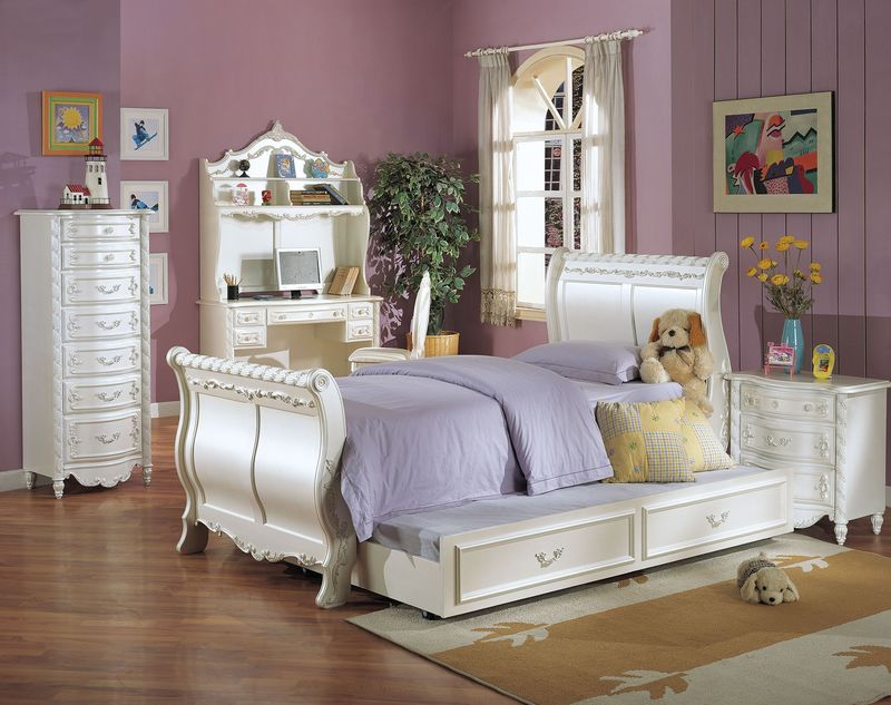 Marie Claire Bedroom Set · Pearl Youth Bedroom Set With Sleigh Bed