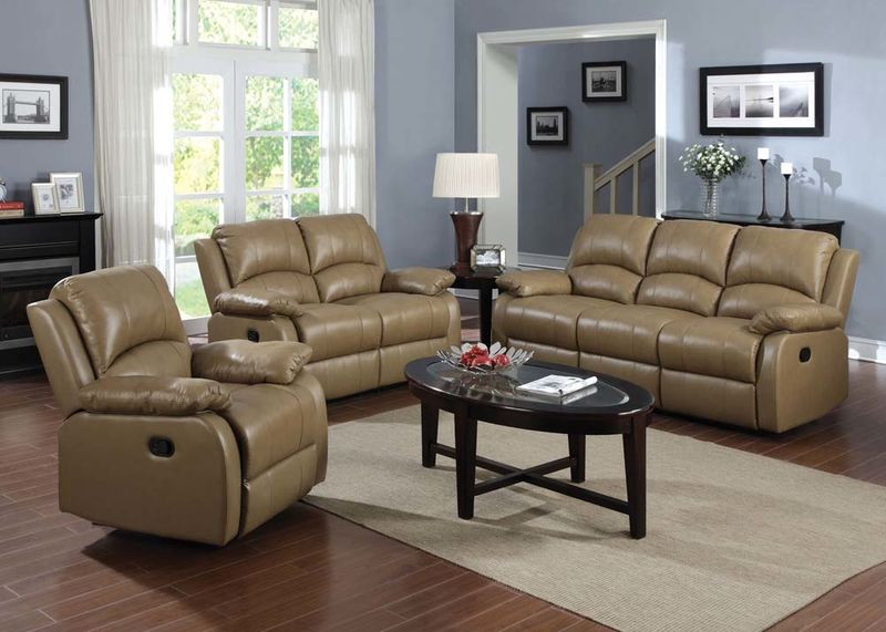 Phelia Reclining Leather Living Room Set