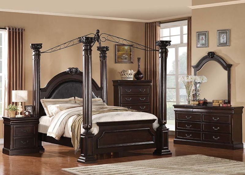 Roman Empire Ii Bedroom Set With Canopy Bed