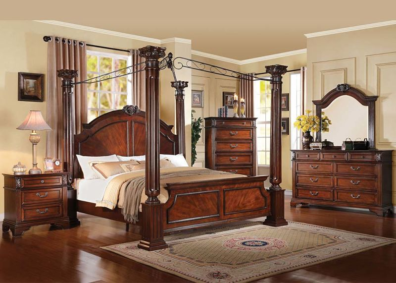 Roman Empire III Bedroom Set with Canopy Bed