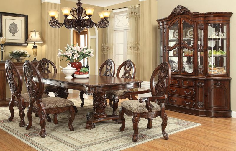 60800 Rovledo Formal Dining Room Set With Pedestal