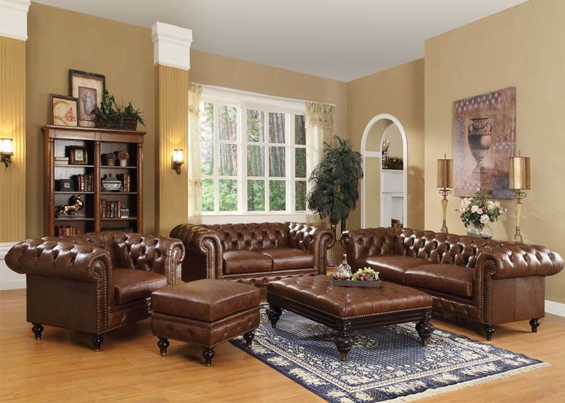 Dallas Designer Furniture | Shantoria Formal Living Room Set in Brown