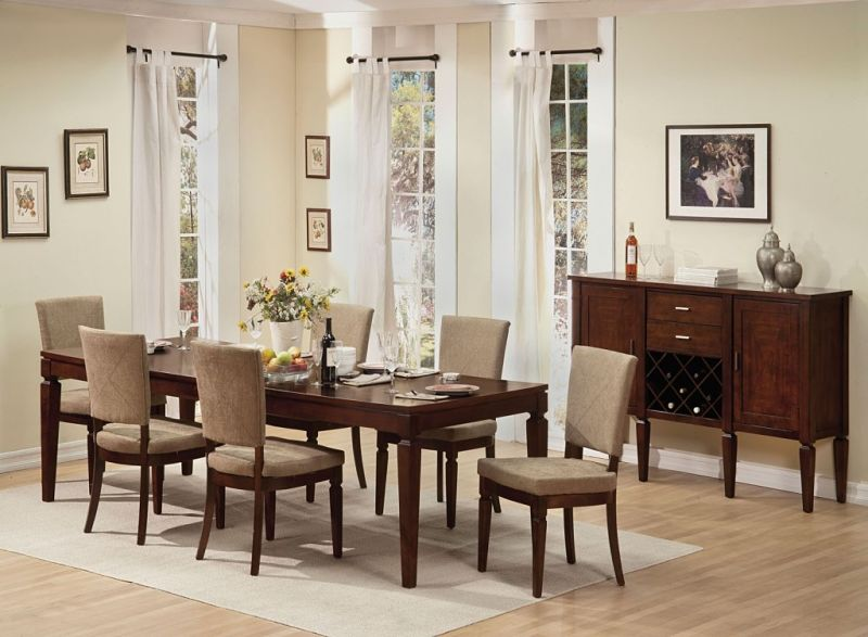 Shelton Formal Dining Room Set with Fabric Backed Chairs