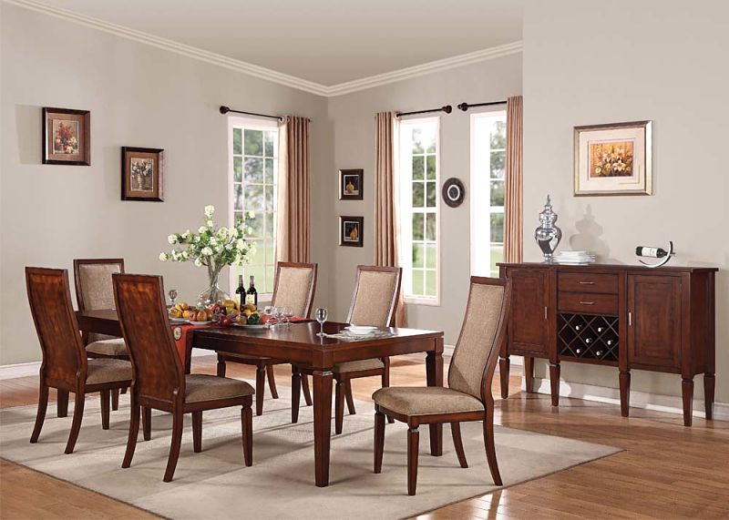 Shelton Formal Dining Room Set with Wood Backed Chairs