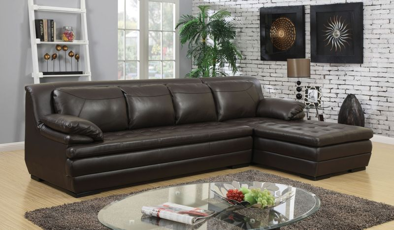 Terri Leather Sectional