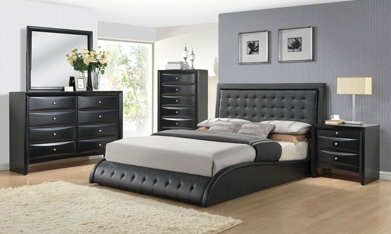 Dallas designer furniture sunset boulevard bedroom set - Black queen bedroom furniture set ...