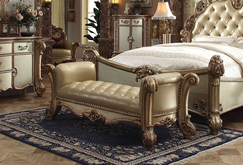 Vendome Bench Seat in Gold