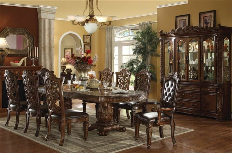Acme 60000 Vendome Formal Dining Room Set In Cherry