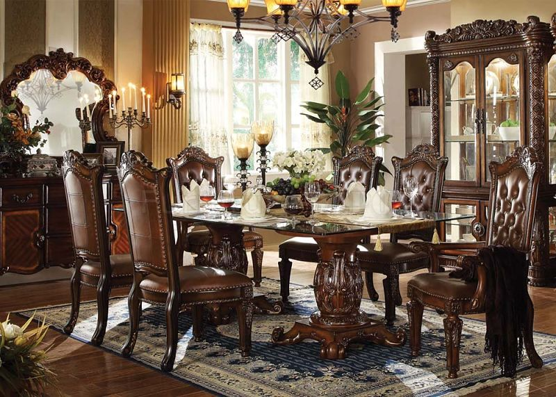 Marvelous ... Vendome Formal Dining Room Set With Glass Table Top