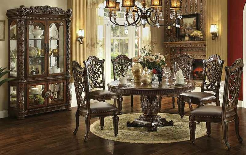 Acme 62020 Vendome Round Formal Dining Room Set Dallas