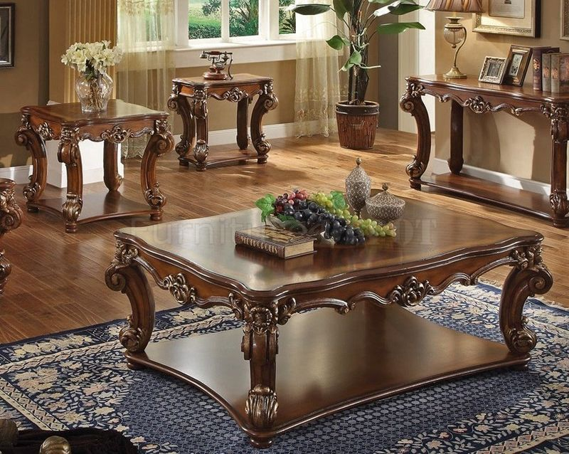 Vendome Coffee Table Set in Cherry