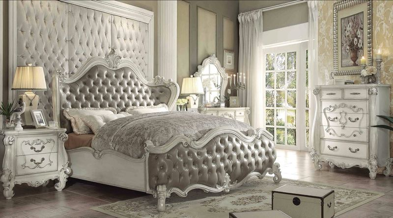 Marvelous Versailles Bedroom Set In Vintage Gray