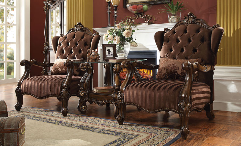 Versailles Accent Chair in Brown