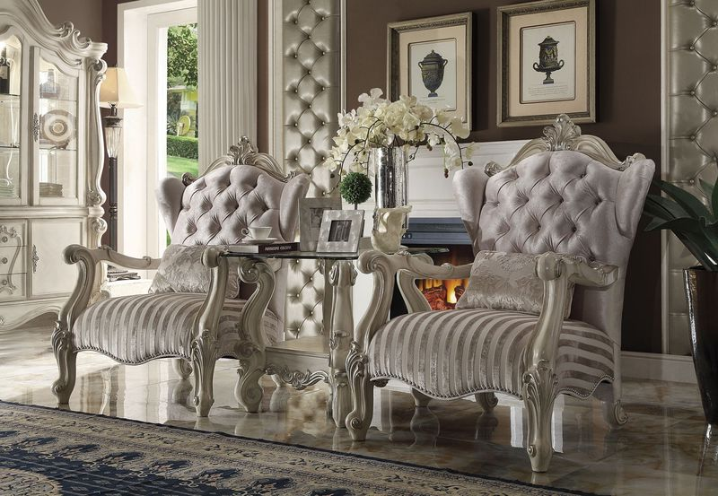 Versailles Accent Chair In Ivory