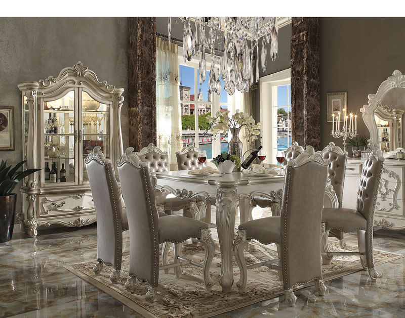 Versailles Counter Height Dining Room Set in White