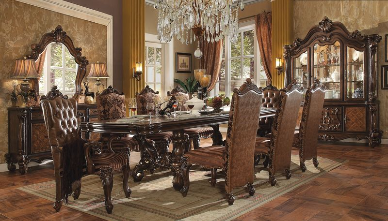 Acme | 61100 Versailles Large Formal Dining Room Set in Cherry ...
