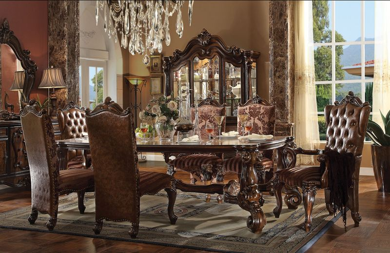 Acme 61115 Versailles Formal Dining Room Set In Cherry