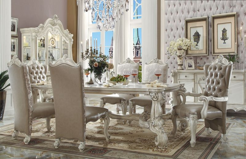 Versailles Formal Dining Room Set in White