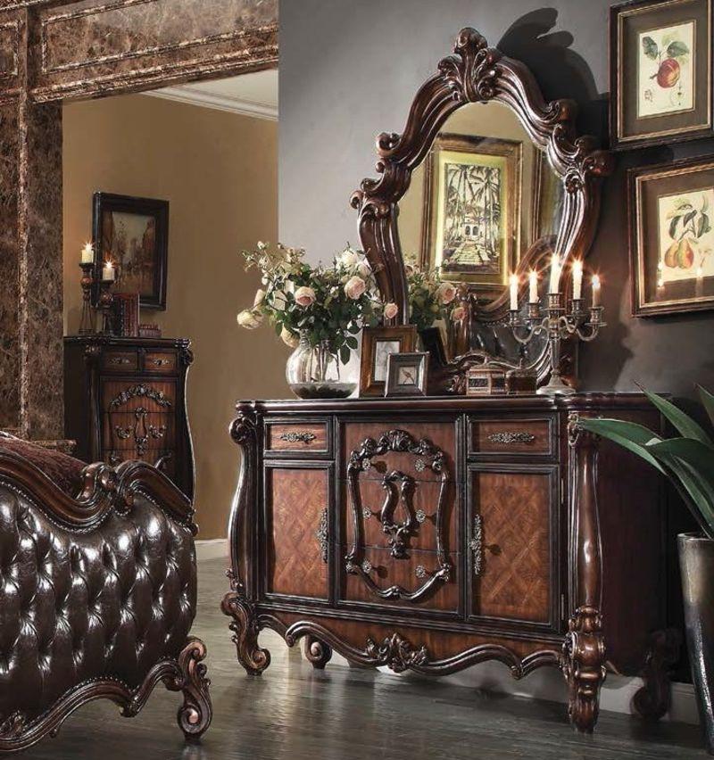 Acme | 21790Q Versailles Bedroom Set in Cherry Oak ...