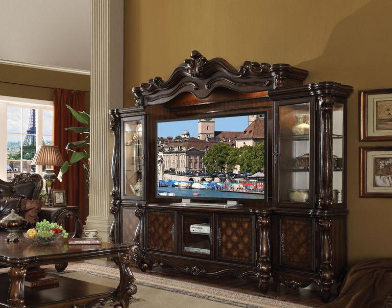 Versailles Entertainment Center in Dark Cherry