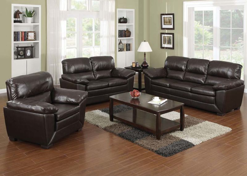 Wayman Leather Living Room Set