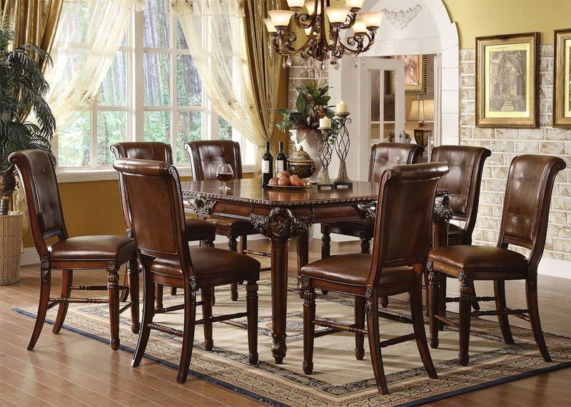 acme 60080 winfred counter height dining room set
