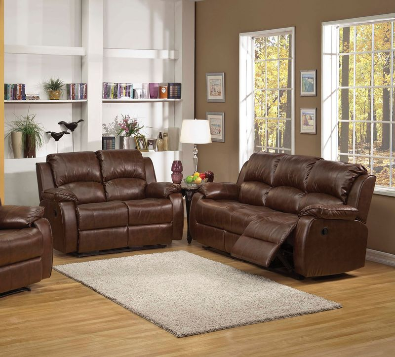 Zanthe Reclining Living Room Set in Espresso Suede