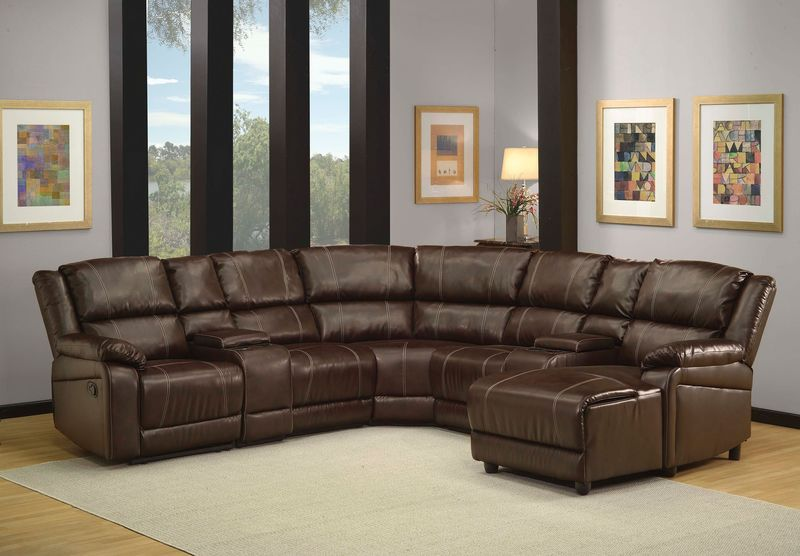 Zanthe Reclining Sectional in Brown