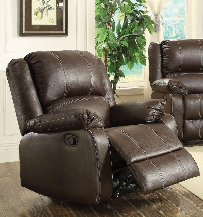 Zuriel Reclining Living Room Set in Brown