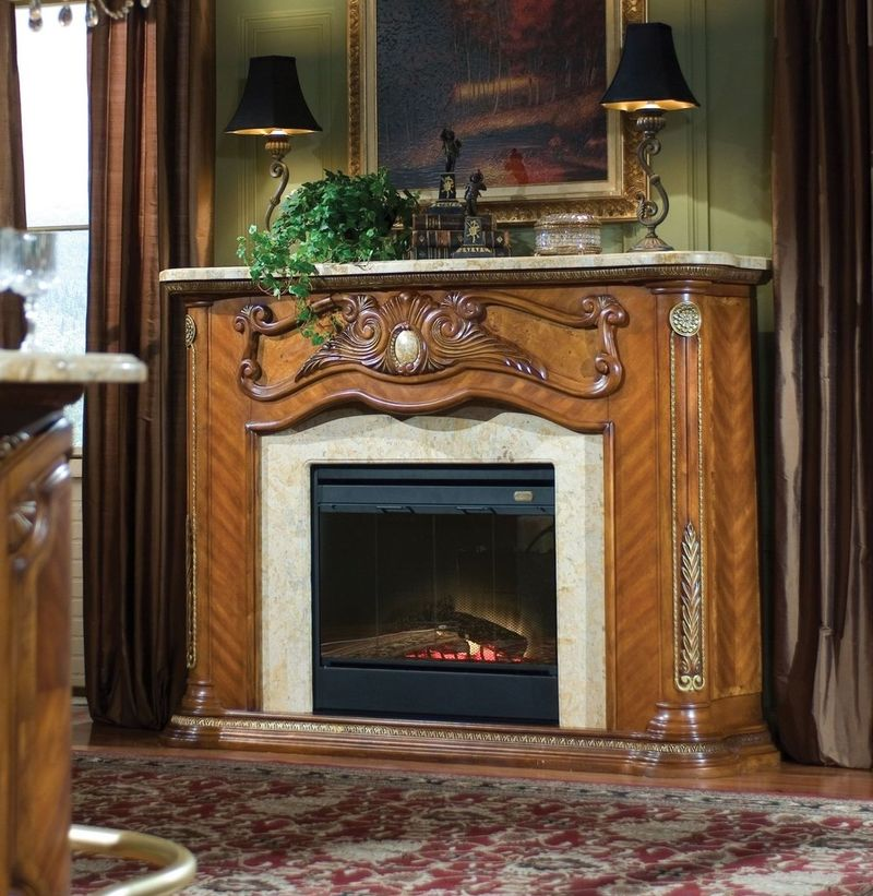Cortina Fireplace Surround with Optional Electric Heater Insert