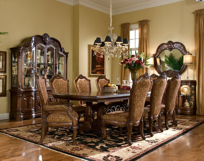 Windsor Court Formal Dining Room Set with Rectangle Table