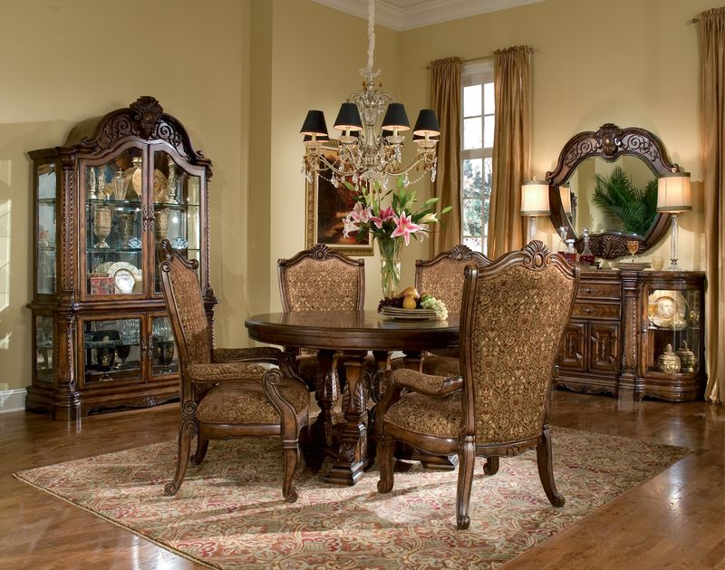 Formal Round Dining Room Sets aicomichael amini | windsor court formal dining room set with