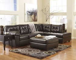 Alliston Sectional Sofa in Espresso