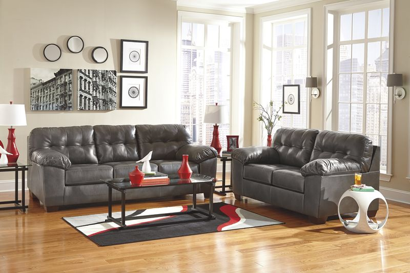 Alliston Living Room Set in Grey