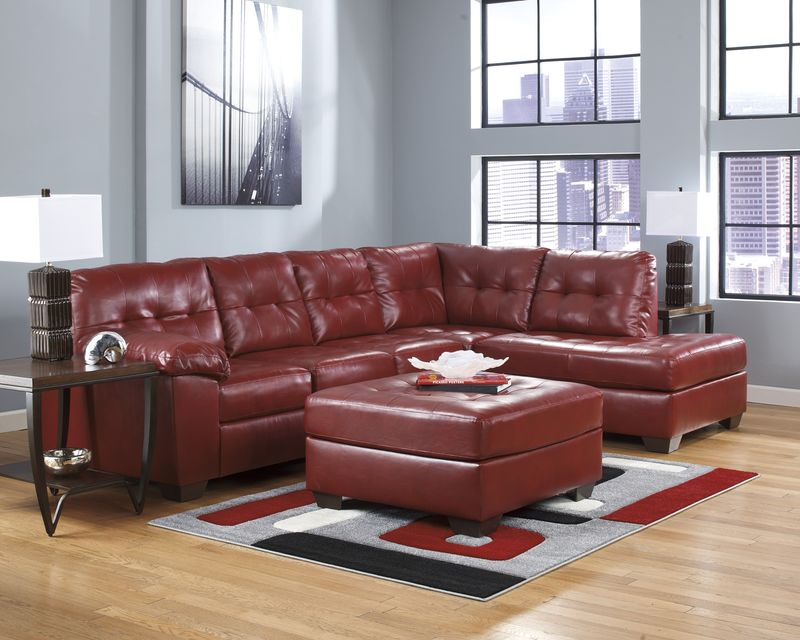 Alliston Sectional Sofa in Red