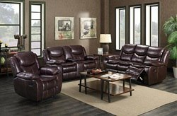 Alma Brown Reclining Living Room Set