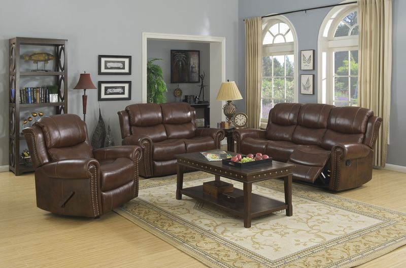 Alomar Reclining Leather Living Room Set