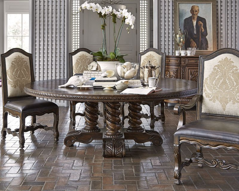 "Castilian 86"" Round Dining Room Set"