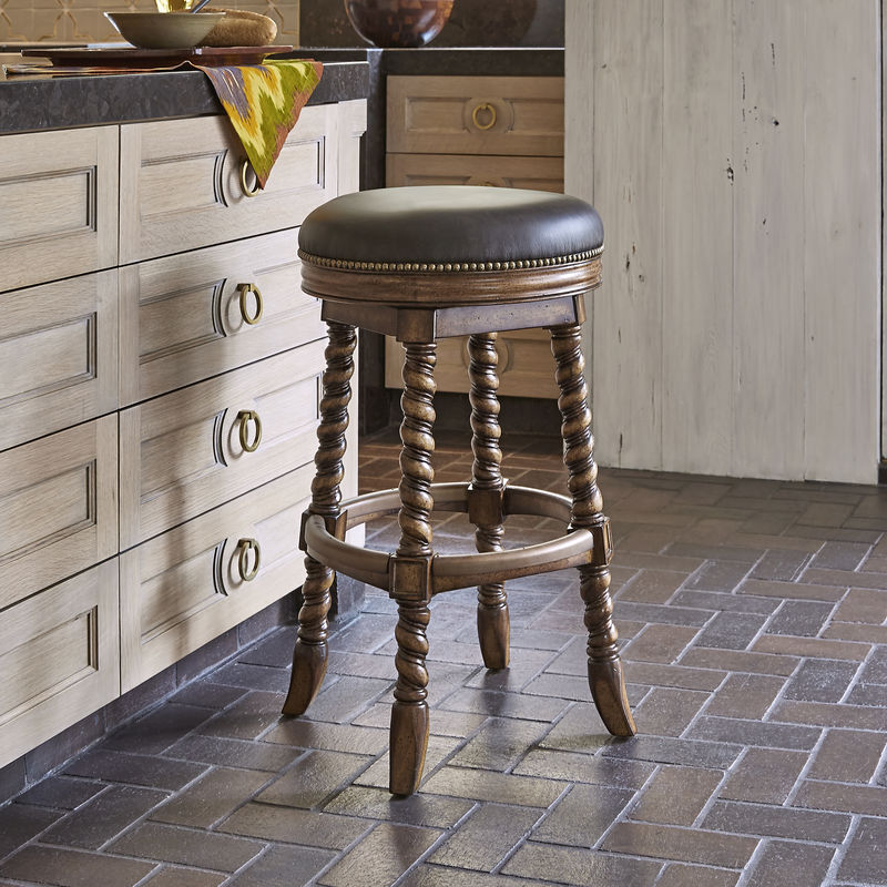 Dawson Swivel Barstool - Armless/Backless