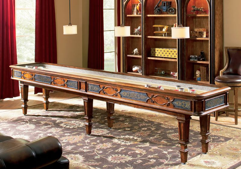 Elegant Scroll 12 Foot Shuffleboard Table