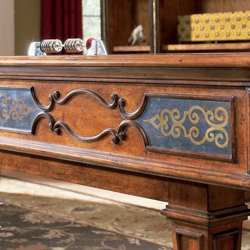 Elegant Scroll 14 Foot Shuffleboard Table