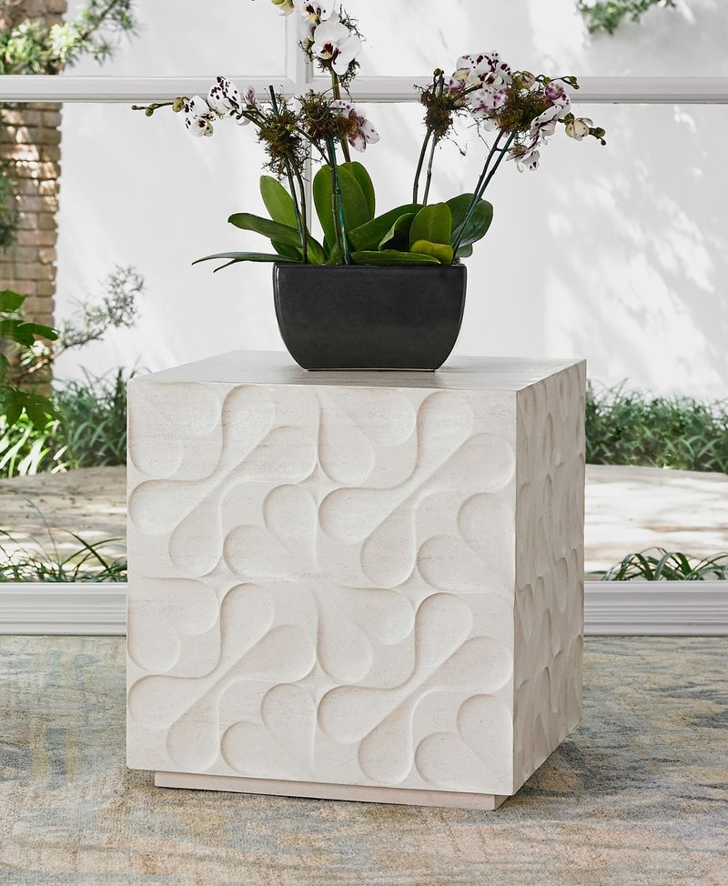 Limestone Daisy Mini Table
