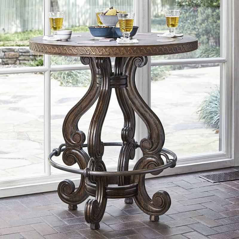 Marseilles Bar Table With Copper Top ...
