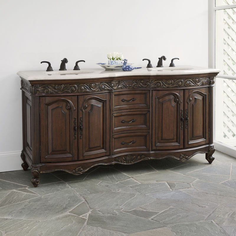Provincial Double Sink Chest