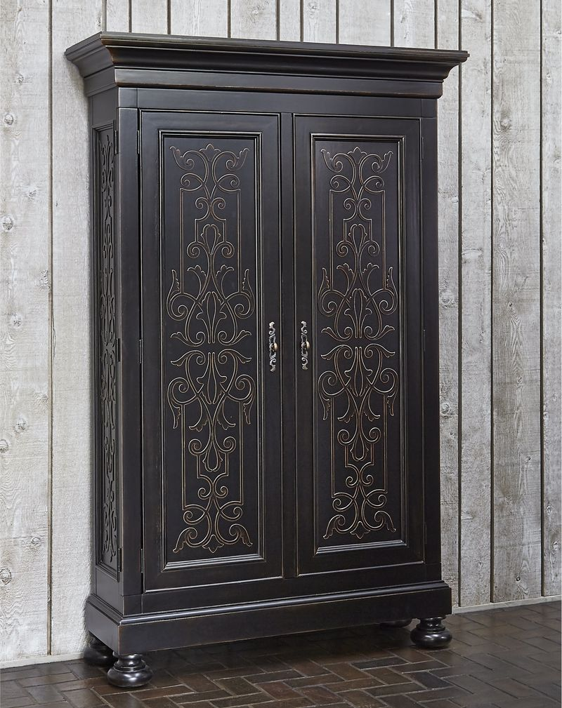 Scrolling Gate Storage Cabinet