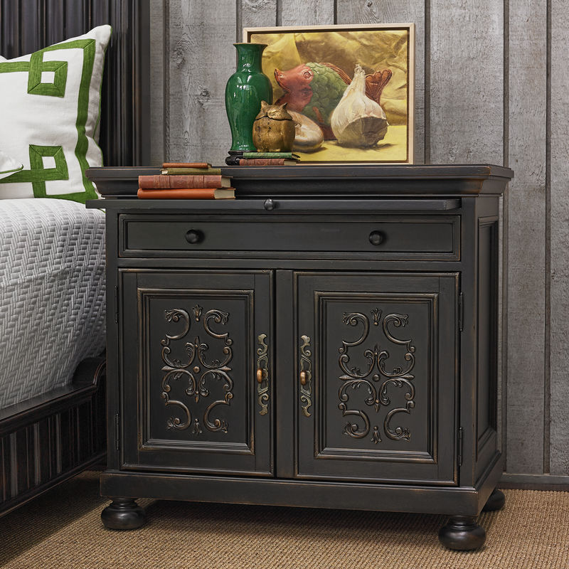 Scrolling Gate Night Stand