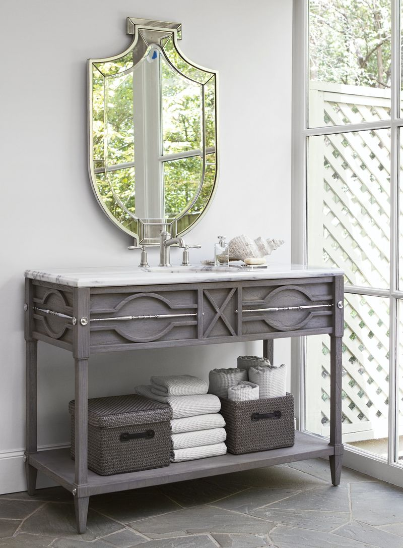 Spindle Sink Chest in Grey