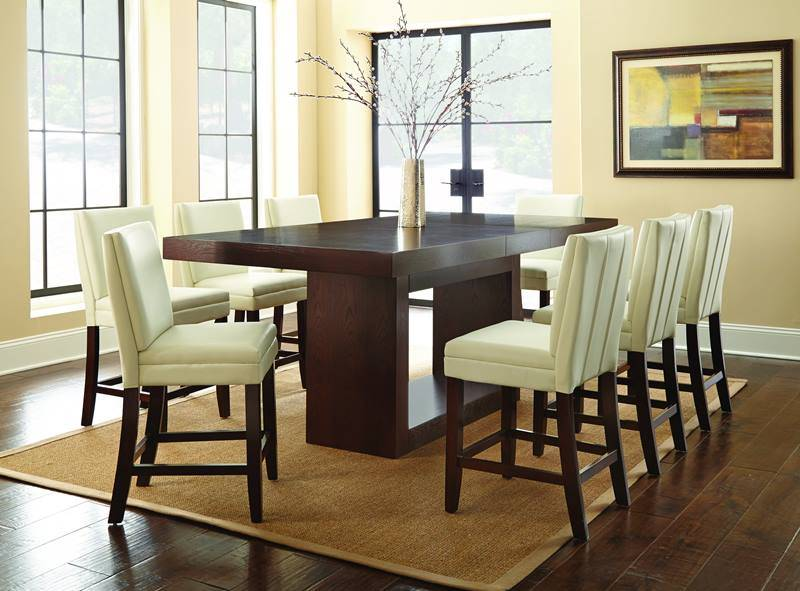 Antonio Counter Height Table Set with White Chairs