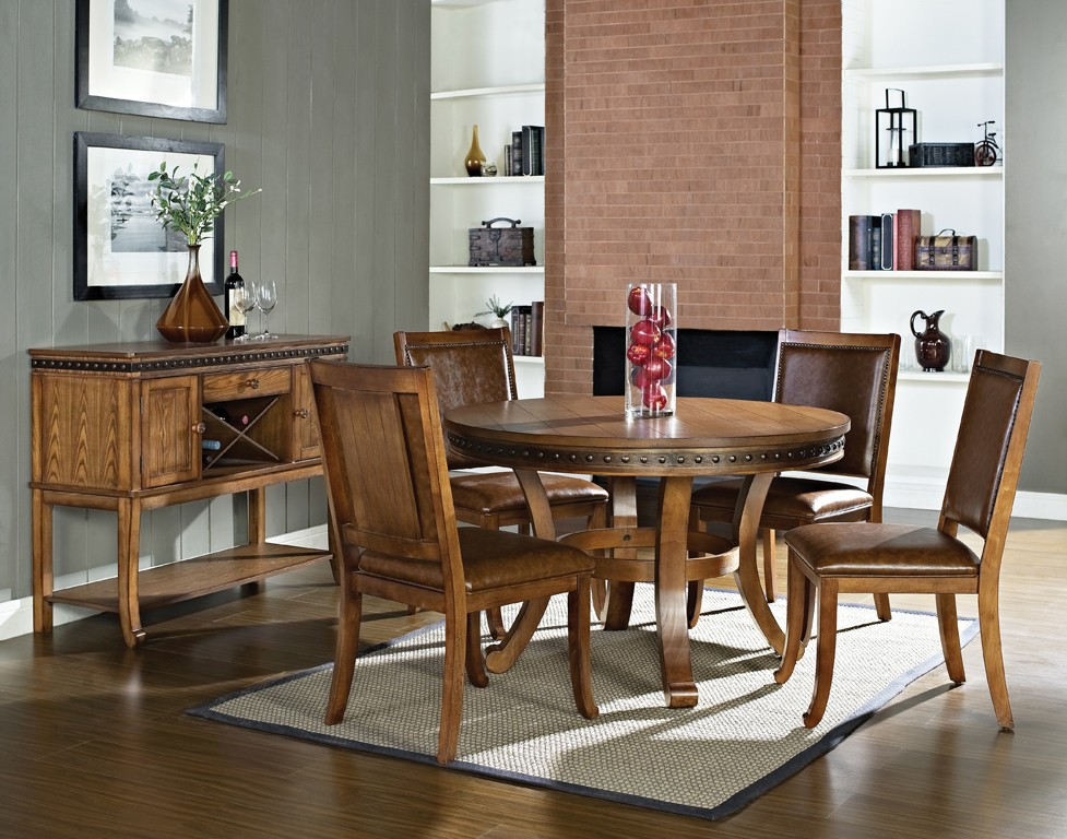 Dallas designer furniture ashbrook round dining room set Dining room furniture dallas